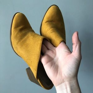 Old navy mustard mules clogs